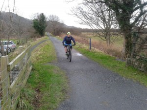 Matty on the Mawddach Trail.